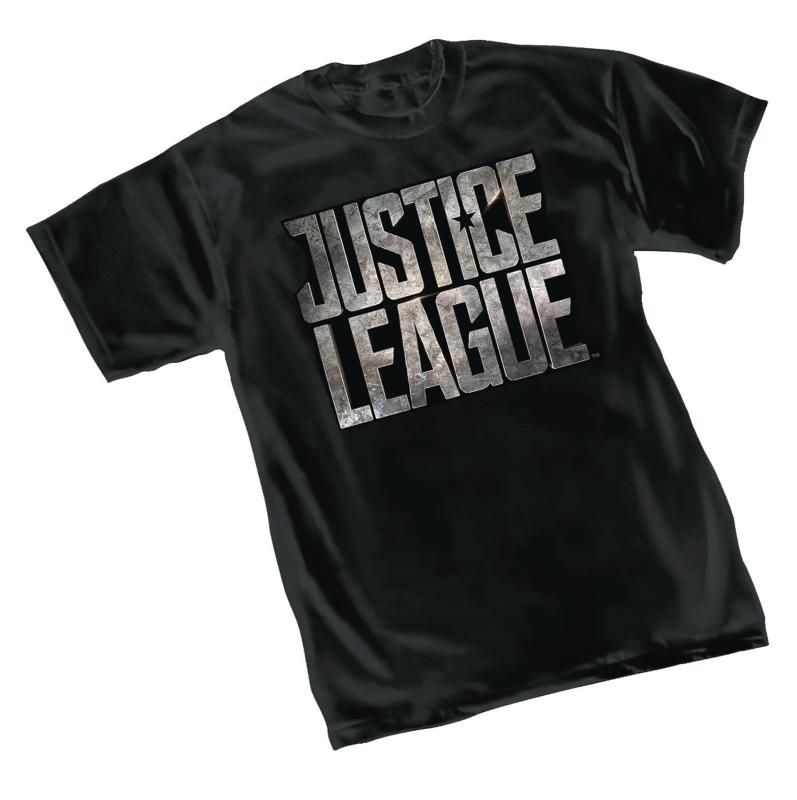 JUSTICE LEAGUE MOVIE LOGO T-SHIRT LARGE  GRAPHITTI DESIGNS NEW