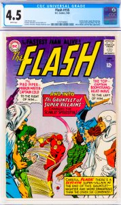 Flash #155 CGC Graded 4.5 Gorilla Grodd, Captain Boomerang, Captain Cold, Hea...