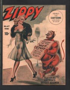 Zippy Magazine #1 May 1941- JOE SIMON cover- spicy cartoons VF/NM