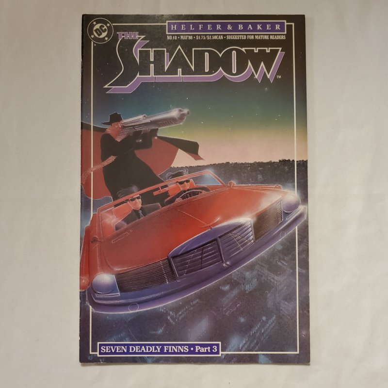 Shadow 10 Very Fine/Near Mint Cover by Kyle Baker