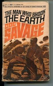 DOC SAVAGE-THE MAN WHO SHOOK THE EARTH-#43-ROBESON-G-BAMA COVER-1ST EDITION G