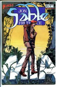 John Sable, Freelance #12 1984-First-Mike Grell signed splash page-NM