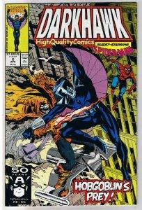 DARKHAWK #2, NM+, Spider-man, HobGoblin, Mike Manley, Prey, 1991