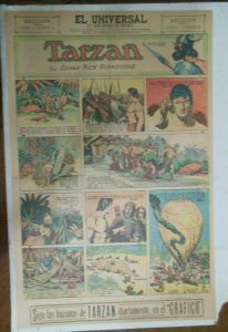 Tarzan Sunday Page #613 Burne Hogarth from 12/6/1942 in Spanish! Full Page Size