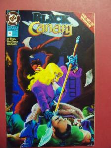 BLACK CANARY #4  VF/NM OR BETTER DC COMICS