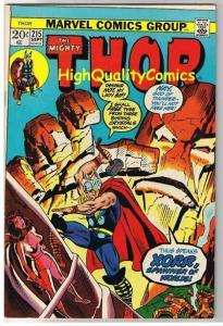 THOR #215, FN, God of Thunder, John Buscema, 1966, more Thor in store