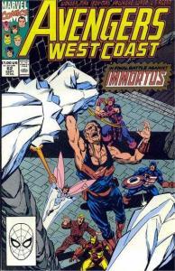 Avengers West Coast #62, NM- (Stock photo)
