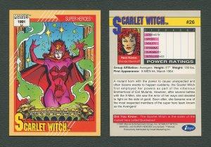1991 Marvel Comics II  Card  #26 ( Scarlett Witch )  MINT