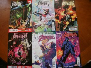 6 Near-Mint Marvel Comic: UNCANNY AVENGERS #1 #3 #4 #5 (2015) & #1 #2 (2016)