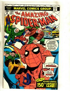 Amazing Spider-Man # 150 FN/VF Marvel Comic Book Punisher Goblin Mary Jane HJ9