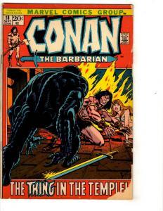 Conan The Barbarian # 18 VG Marvel Comic Book Kull Sonja Sword Sorcery J313