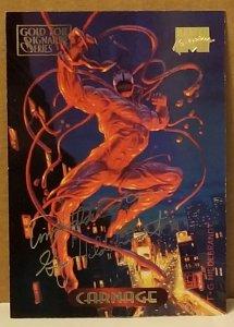 1994 Marvel Masterpieces Gold Foil Signature Series #20 Carnage/Hildrebrandt