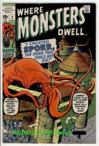 WHERE MONSTERS DWELL #2, VF+/NM, Jack Kirby, Taboo, Sporr, Dick Ayers