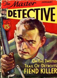 MASTER DETECTIVE-JAN 1933-SPICY-MURDER-KIDNAP-RAPE-DELOS PALMER COVER-poor P