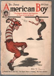 American Boy 6/1920-A.G. Dover baseball cover-classic ads-pulp fiction-G+