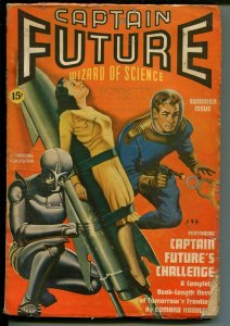 Captain Future-Summer 1940-robot & bondage cover-Challenge-VG MINUS