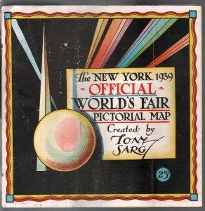 New York World's Fair Official Pictorial Map 1939-comic style art-Tony Sarg-G