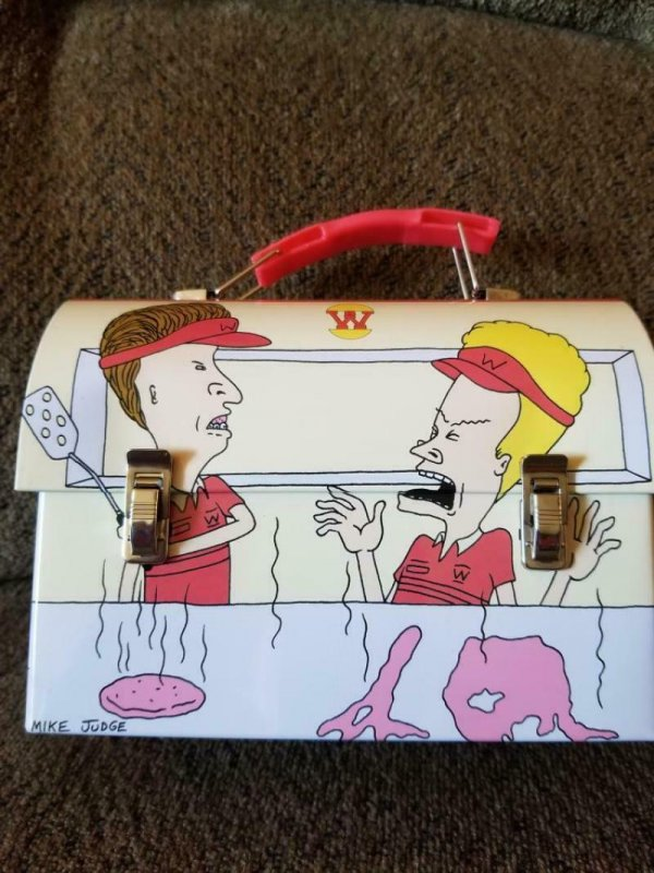 MTV - BEAVIS and BUTTHEAD Lunch Box Stash Metal Fast Food 2011, new out of case