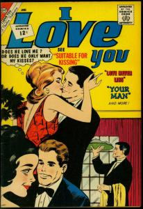 I Love You #40 1962- Charlton Romance- Suitable for Kissing VF