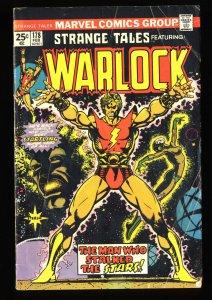 Strange Tales #178 VG- 3.5 Adam Warlock 1st Magus!