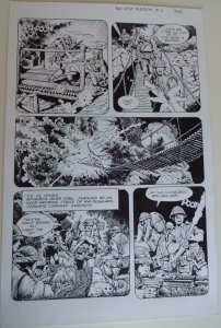 DON LOMAX Original Art, Vietnam Journal #8 pg 8, Brain Dead Horror, Caliber,2011