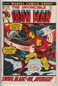 Iron Man #51 (Oct-72) VF/NM High-Grade Iron Man