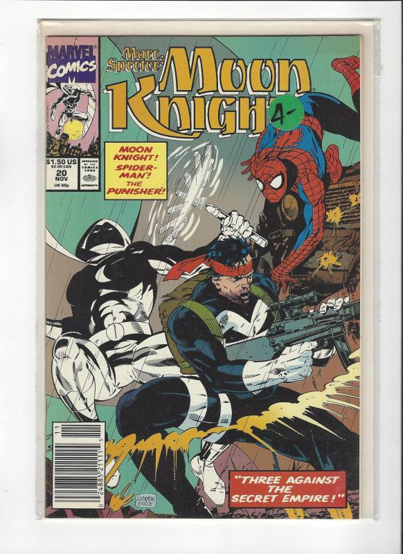 Marc Spector: Moon Knight #20 Spider-Man Punisher NM