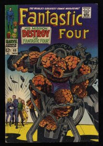 Fantastic Four #68 FN+ 6.5 White Pages