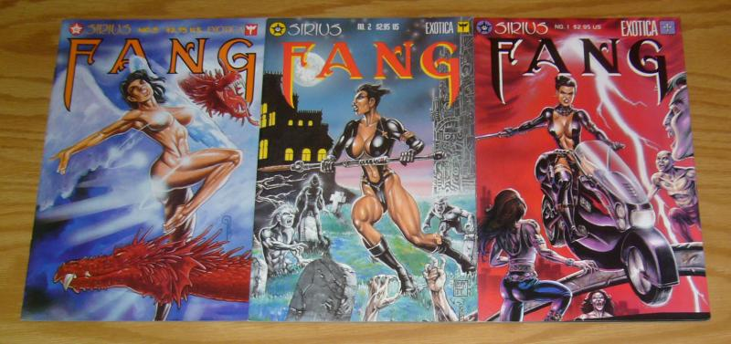 Fang #1-3 VF/NM complete series KEVIN J. TAYLOR exotica 1995 sirius bad girl 2