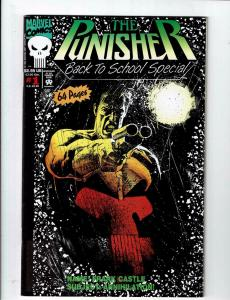 Lot of 2 The Punisher Back to School Special Marvel Comic Books #1 2 NW1