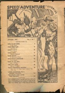 Speed Adventure #1 1/1943-1st issue-spicy pulp fiction-E Hoffman Price-P