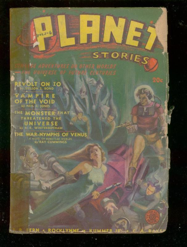 PLANET STORIES #6 SPG 1941-VAMPIRES-HANNES BOK ART-PULP FR/G