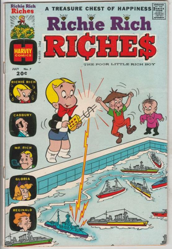 Richie Rich Riches #7 (Jul-73) FN- Mid-Grade Richie Rich