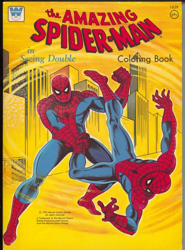 Amazing Spider-man Coloring Book #1639-Whitman-comic coloring book ...