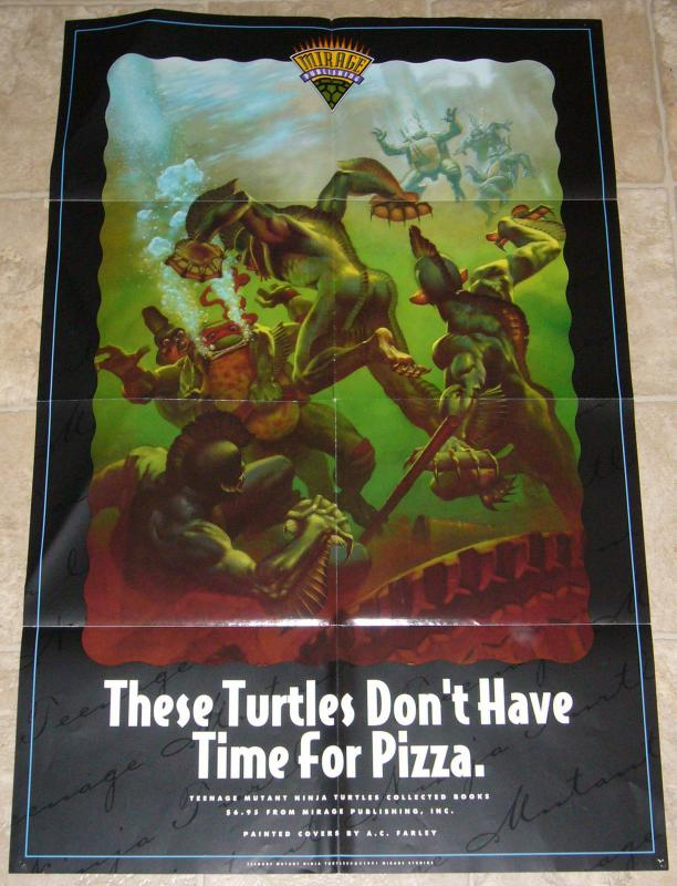Teenage Mutant Ninja Turtles Collected Books promo poster by A.C. Farley 1991