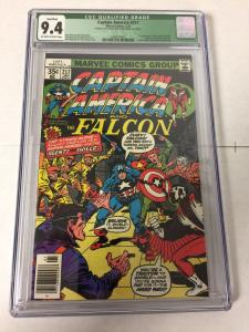 Captain America 217 Cgc 9.4 Top Staple Punch Through Qualified 1st Quasar