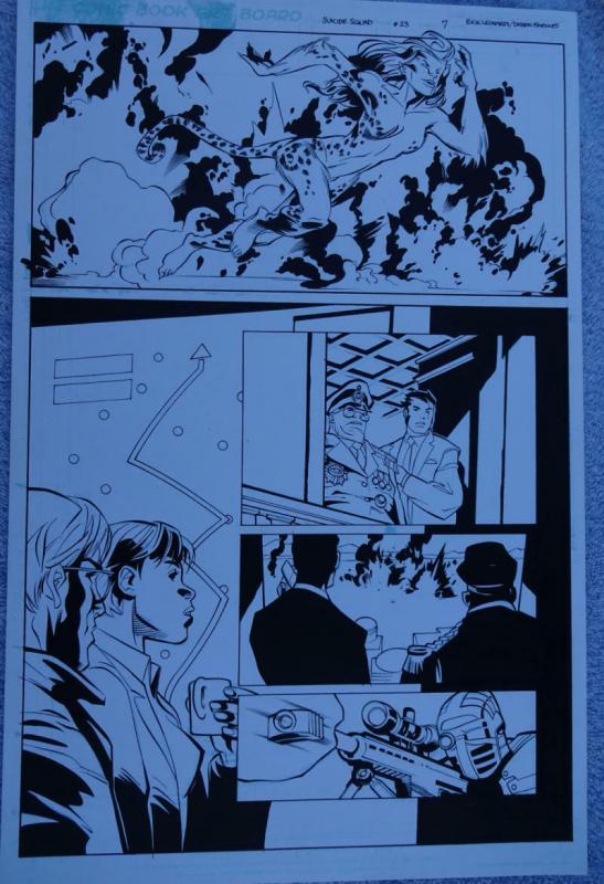 RICK LEONARDI / DEREK FRIDOLFS original art, SUICIDE SQUAD #23, Cheetah, 2014