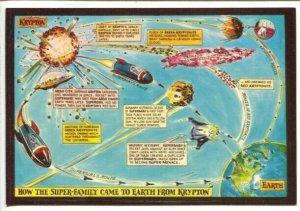 Origin of Superman Post Card 1972-Kal-El's flight from Kryptom-VF/NM