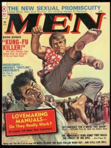 MEN MAGAZINE JAN 1974--BRUTAL KUNG FU COVER--KING KONG VF/NM