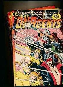 LARGE LOT! 17 Comics-Eclipse Comics DNAgents #1-#17 1984-'87 VF+ (PFL#7)