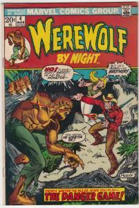 Werewolf by Night #4 (Mar-73) VF- High-Grade Werewolf