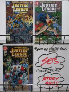 JUSTICE LEAGUE AMERICA  (DC, 1987) #111-113 VF-NM LAST ISSUE! Wonder Woman