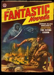 FANTASTIC NOVELS 1950 JAN-OCCULT PULP FN/VF