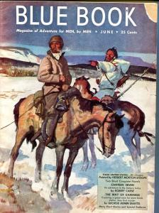 BLUE BOOK PULP-JUNE 1947-VG/FN-STOOPS COVER-FRED LANE-HOTCHKISS-JOEL REEVE VG/FN
