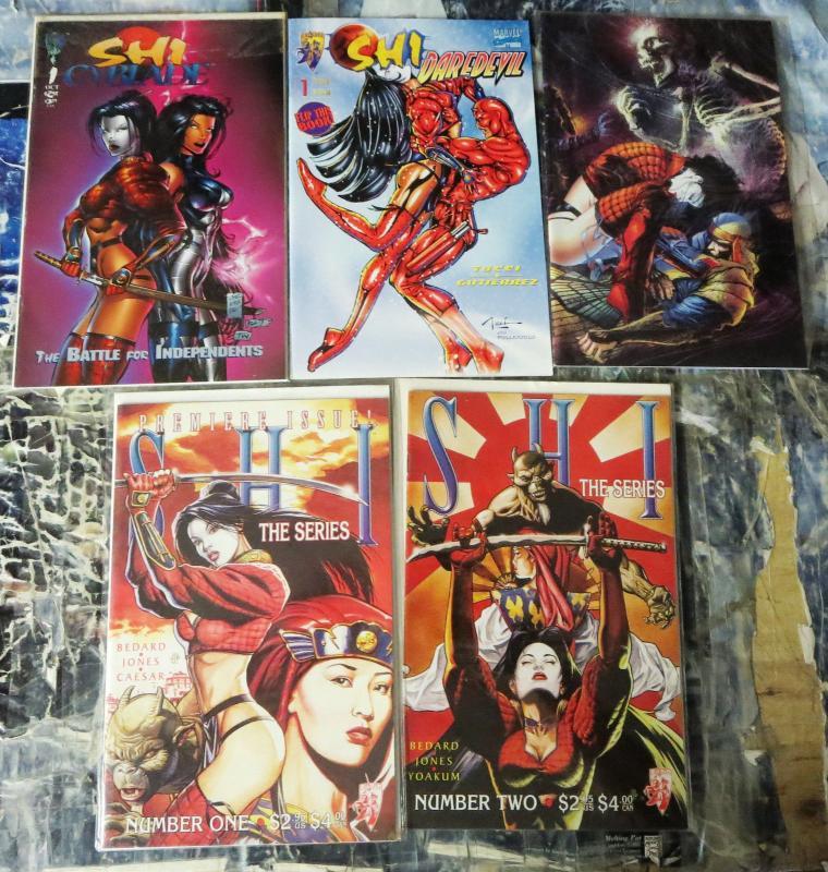 SHI Collection!  23 books- VF or better!  Bill Tucci! Daredevil! Tomoe! Cyblade!
