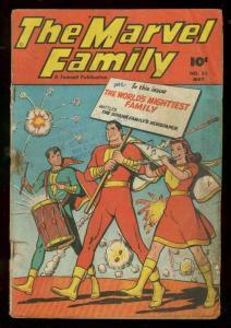 MARVEL FAMILY #23 1948-FAWCETT-FIRECRACKER-PATRIOTIC G