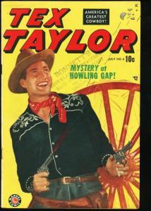TEX TAYLOR #6-PHOTO COVER-BLAZE CARSON-MARVEL WESTERN VG/FN