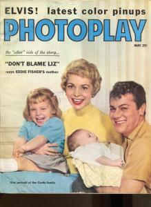 Photoplay-Tony Curtis-Elvis-Audrey Hepburn-Lana Turner-Liz Taylor-May-1959