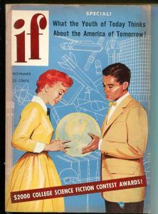 If 11/1954-Galaxy-pulp fun-Robert Silverberg-Ed EMSH cover-FN
