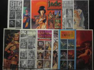 Comic Art Portfolios Lot of 6 11 x 14 FULL COLOR 36 prints BAD GIRLS ART signed